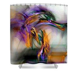Shower Curtain featuring the digital art Graffiti - Fractal Art by NirvanaBlues