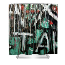 Graffiti Abstract 1 Shower Curtain by Jani Freimann