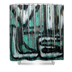 Shower Curtain featuring the photograph Graffiti Abstract 2 by Jani Freimann