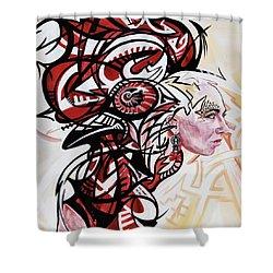 Graffiti Cock Shower Curtain