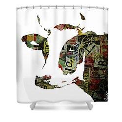 Graffiti Cow Abstract Modern Painting Pop Art Prints Poster  Robert Erod  Shower Curtain