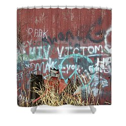 Shower Curtain featuring the photograph Graffiti by Cynthia Lassiter