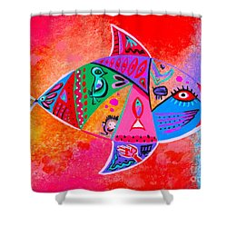 Graffiti Fish Shower Curtain