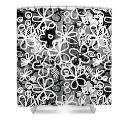 Shower Curtain featuring the mixed media Graffiti Garden - Art By Linda Woods by Linda Woods