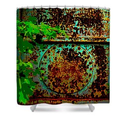 Graffiti In The Forest Shower Curtain