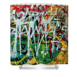 Graffiti Scramble Shower Curtain