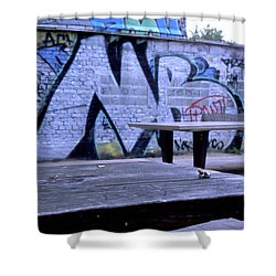 Graffiti Table Shower Curtain