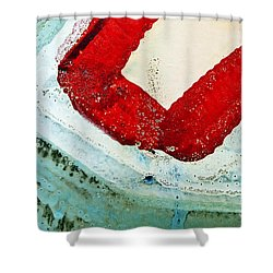 Graffiti Texture IIi Shower Curtain by Ray Laskowitz - Printscapes