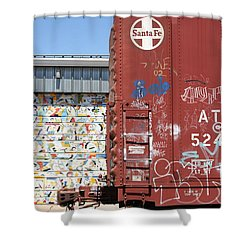 Graffiti Train Shower Curtain