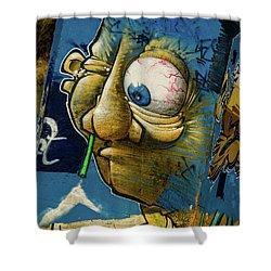 Graffiti_14 Shower Curtain