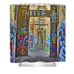 Grafiti Bridge To Nowhere Shower Curtain by Alice Gipson