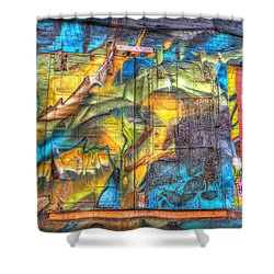 Grafiti Window Shower Curtain