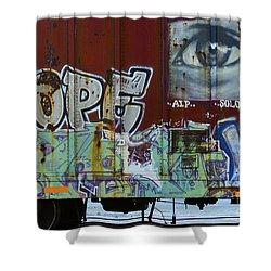 Grafitti Art Riding The Rails 6 Shower Curtain
