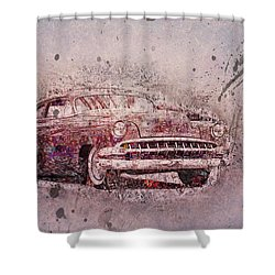 Shower Curtain featuring the photograph Graffiti Merc by Joel Witmeyer