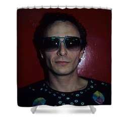 Graham Parker Shower Curtain by Rich Fuscia
