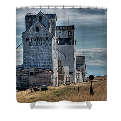 Grain Elevators, Wilsall Shower Curtain