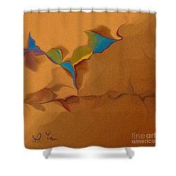 Grain In Our Dialog Shower Curtain