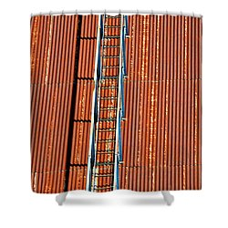 Grain Stairway Shower Curtain