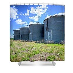 Grain Storage Shower Curtain by Spencer McDonald