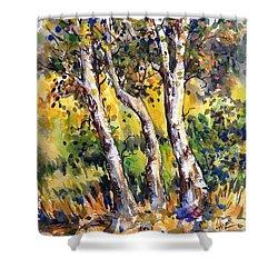 Grainery Poplars Shower Curtain