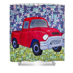 Gramps Had A Green Truck Shower Curtain