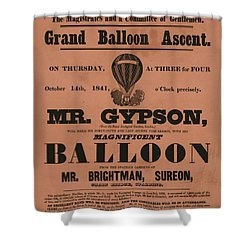 Grand Balloon Ascention Shower Curtain
