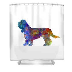 Grand Basset Griffon Vendeen In Watercolor Shower Curtain by Pablo Romero