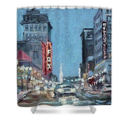 Grand Boulevard At Night, St.louis Shower Curtain