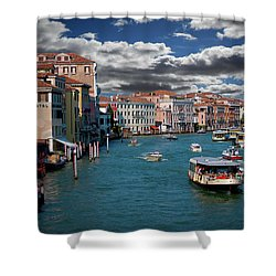 Grand Canal Daylight Shower Curtain by Harry Spitz