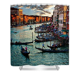 Grand Canal Sunset Shower Curtain by Harry Spitz