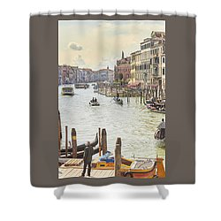 Grand Canal - The Most Famous Canal In Venice Shower Curtain