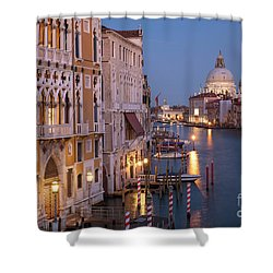 Shower Curtain featuring the photograph Grand Canal Twilight by Brian Jannsen