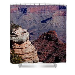Shower Curtain featuring the photograph Grand Canyon 3 by Donna Corless