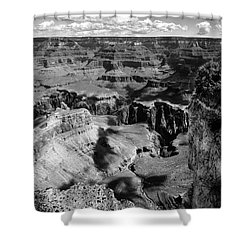 Grand Canyon Bw Shower Curtain by RicardMN Photography