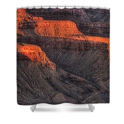 Grand Canyon Light Shower Curtain by Steve Gadomski