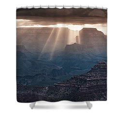 Shower Curtain featuring the photograph Grand Canyon Morning Light Show Pano by William Lee