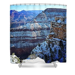 Grand Canyon National Park In Winter Shower Curtain