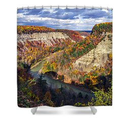 Grand Canyon Of The East Shower Curtain by Mark Papke