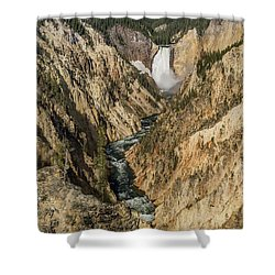Grand Canyon Of The Yellowstone And Yellowstone Falls Shower Curtain