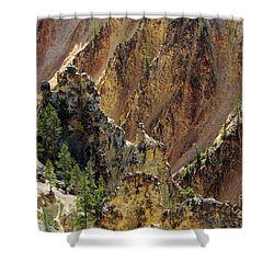 Grand Canyon Of The Yellowstone From North Rim Drive Shower Curtain by Louise Heusinkveld
