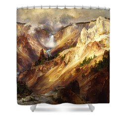 Grand Canyon Of The Yellowstone Shower Curtain by Thomas Moran
