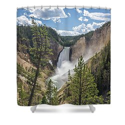 Grand Canyon Of Yellowstone Shower Curtain by Alpha Wanderlust