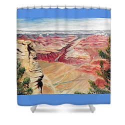 Grand Canyon Overlook Shower Curtain by Sherril Porter
