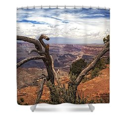 Shower Curtain featuring the photograph Grand Canyon River View by James Bethanis