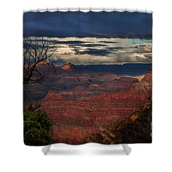 Grand Canyon Storm Clouds Shower Curtain