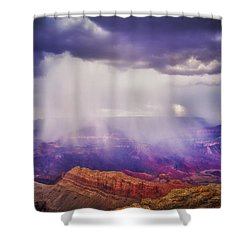 Shower Curtain featuring the photograph Grand Canyon Storm by James Bethanis