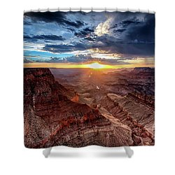 Grand Canyon Sunburst Shower Curtain