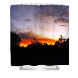 Grand Canyon Sunset Shower Curtain by Adam Cornelison