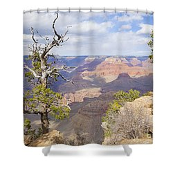 Shower Curtain featuring the photograph Grand Canyon View by Chris Dutton