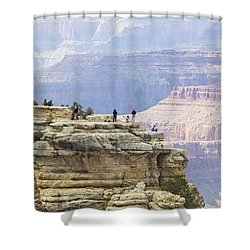 Shower Curtain featuring the photograph Grand Canyon Vista by Chris Dutton